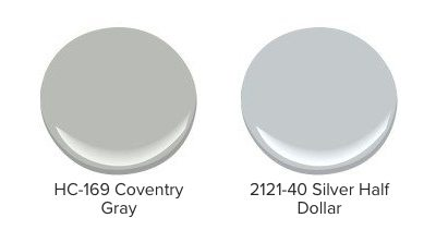 Examples of blue-undertoned gray paint