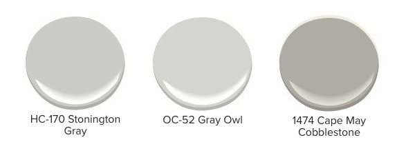Examples of green-undertoned gray paint