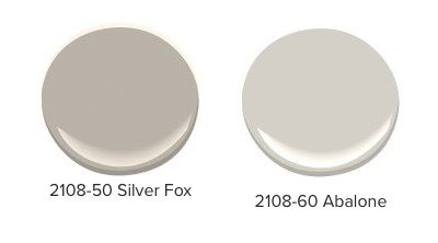 Examples of red-undertoned gray paint