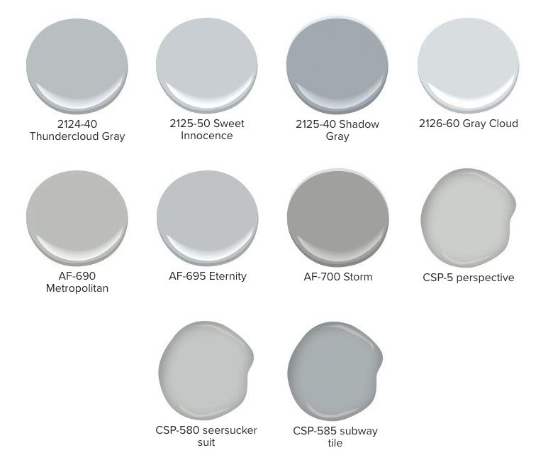 List Of Blue Undertoned Gray Paint