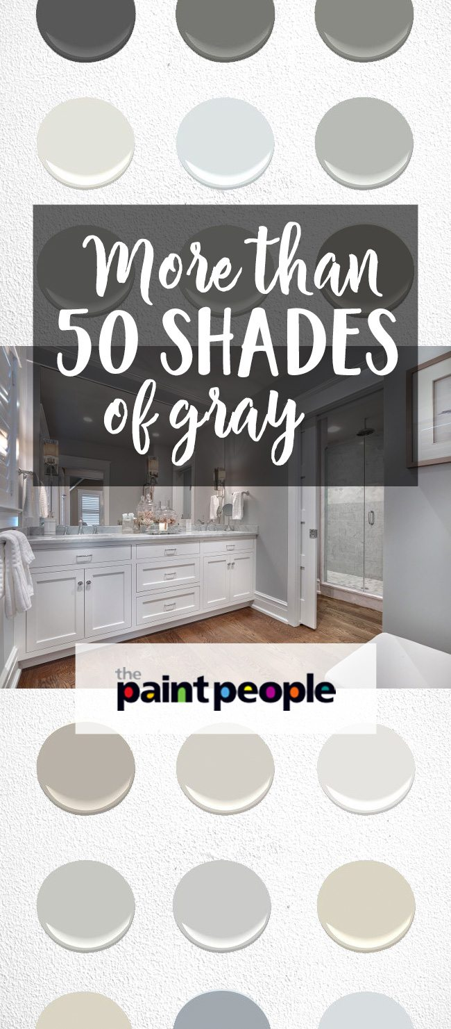 List of more than 50 shades of gray by The Paint People