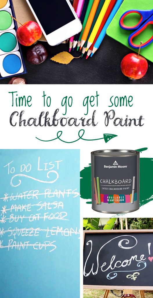 Benjamin Moore chalkboard paint is available