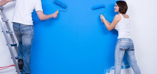 Painting s room blue