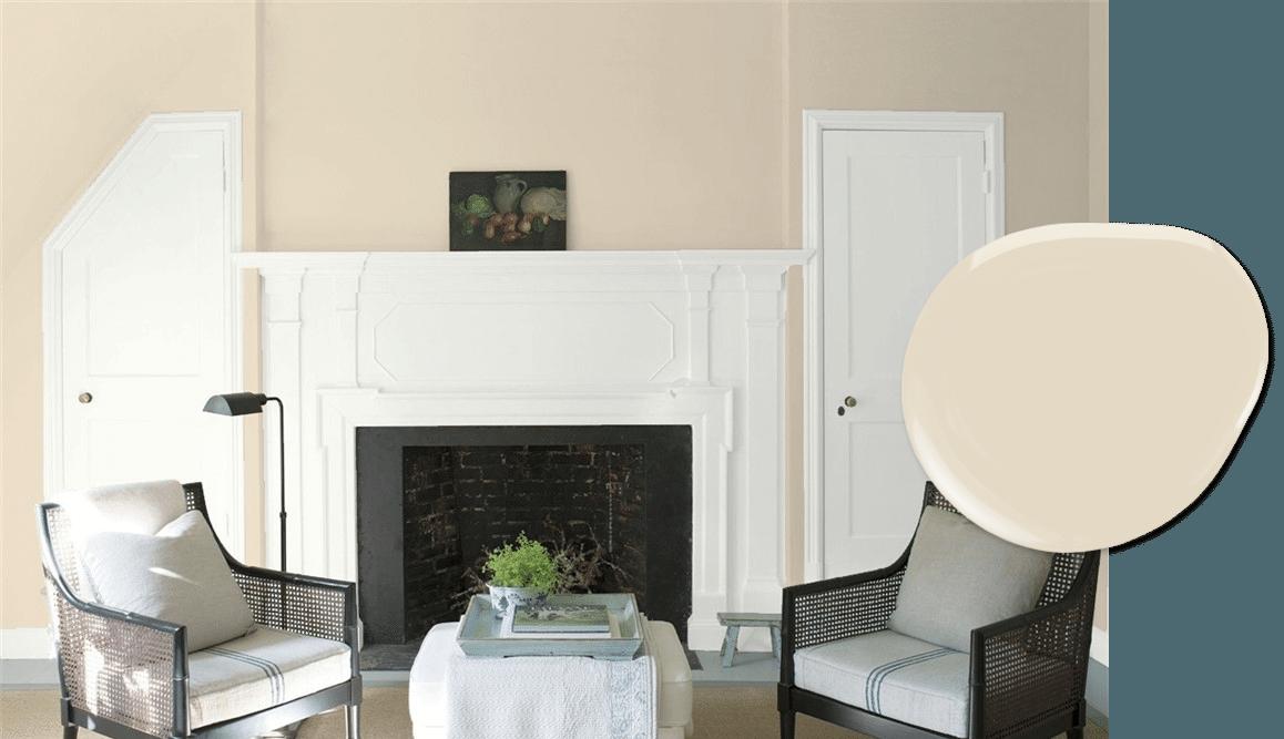 Muslin paint in our top 10 Benjamin Moore light neutrals list