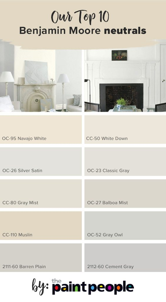 List Of Top 10 Benjamin Moore Light Neutrals By The Paint People