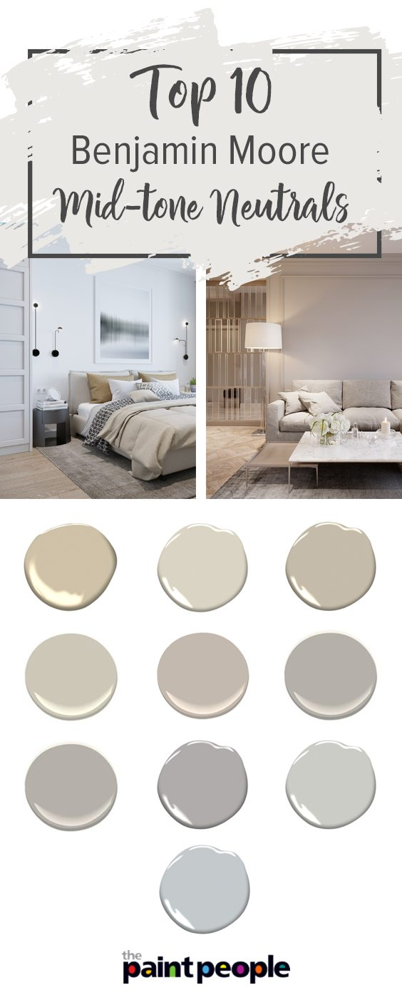 Top 10 Benjamin Moore Mid-tone Neutrals | The Paint People