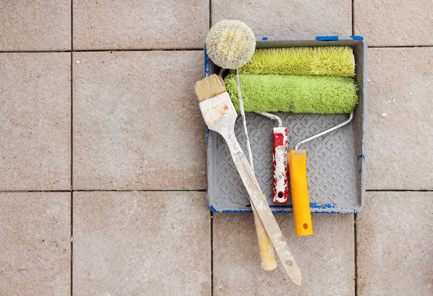 The Paint People guides you through how to paint floor tiles in today's article